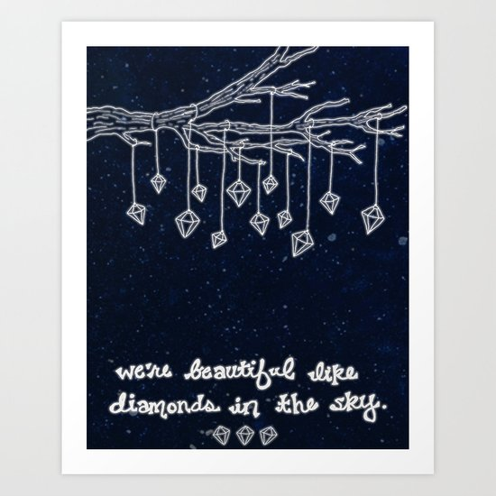 Diamonds In the Sky Art Print