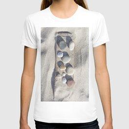 Beach pebble driftwood still life T-shirt