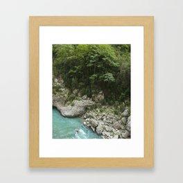 Hiking in France Framed Art Print