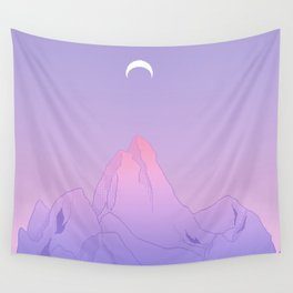 Soft Moon Wall Tapestry