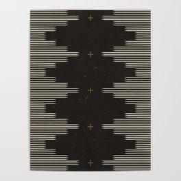 Southwestern Minimalist Black & White Poster