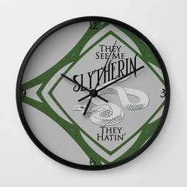 They See Me Slytherin Wall Clock