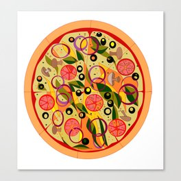 A Veggie Pizza, my Favorite Canvas Print
