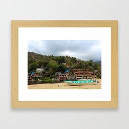 Dreamy Mexican Beach Day Framed Art Print