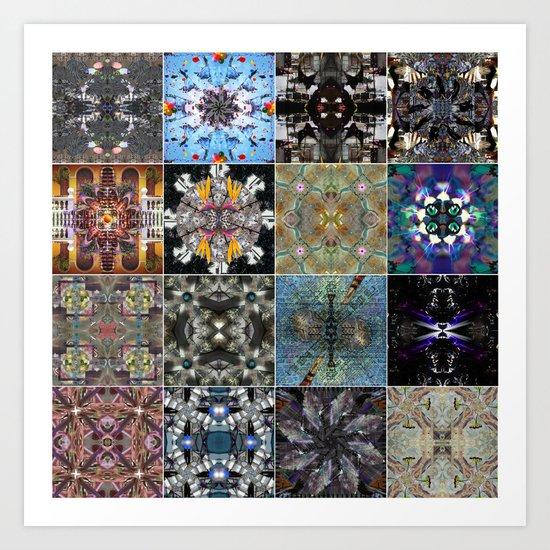 16 mandala Art Print