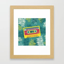 Hot Summer Hits - Retro Tape Framed Art Print