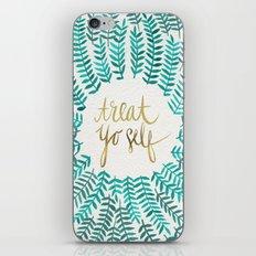 Treat Yo Self – Gold & Turquoise iPhone & iPod Skin