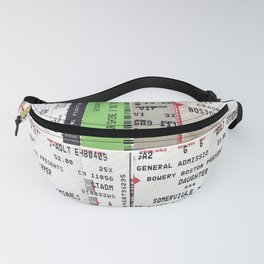Concert Ticket Collage Fanny Pack