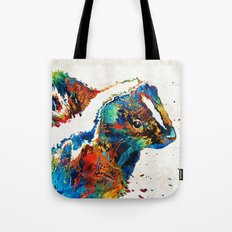 Colorful Skunk Art - Dee Stinktive - By Sharon Cummings Tote Bag