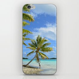 Tropical palm beach in the Pacific iPhone Skin