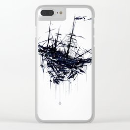 Shattered Ship Clear iPhone Case