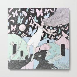 Butterfly Sky (Memories in a Dream) Metal Print