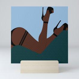 Arch + Point // Femme, Feminine, Valentine, Lingerie, Pin Up, Melanin Mini Art Print