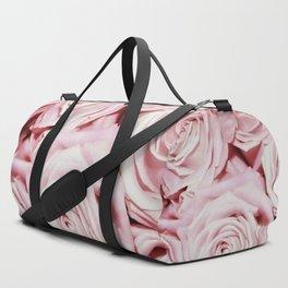 Beautiful bed of pink roses - Floral Rose Flowers Duffle Bag