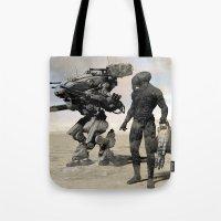 kieren walker Tote Bags featuring Walker by Steve Thorpe