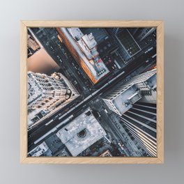 USA Photography - Chicago From Bird Perspective Framed Mini Art Print