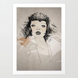 a hot french lady Art Print