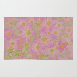 Pink Floral, The Earth Laughs In Flowers Rug