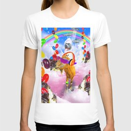Dog Riding Goat With Sundae And Jelly Beans T-shirt