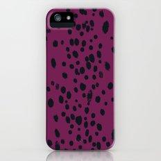 Eggplant Dots iPhone (5, 5s) Slim Case