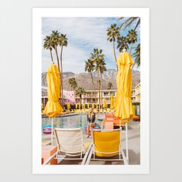 Palm Springs Pool Day VI Art Print