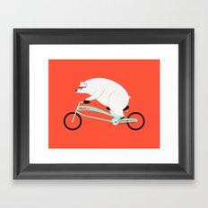 Hipster Bear Framed Art Print
