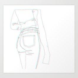 3D Denim Art Print
