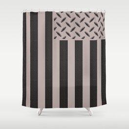 Plated Flag Shower Curtain