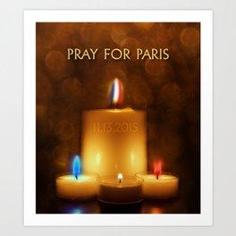PRAY FOR PARIS Art Print