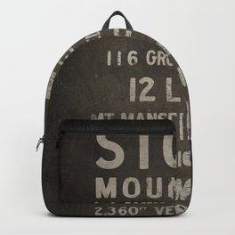Stowe Ski Vermont Mountain Sign Backpack