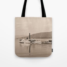 The Horicon I Steamboat (sepia) Tote Bag