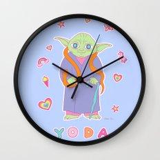 Yoda Sticker Magic Wall Clock