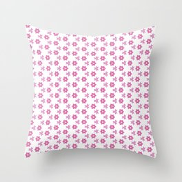 Abstract floral all-over Pattern Throw Pillow