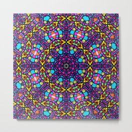 Arabesque kaleidoscopic Mosaic G519 Metal Print