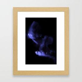 Purple Mouth Framed Art Print