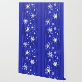 Abstract background with snowflakes Wallpaper