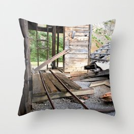 Exploring the Longfellow Mine of the Gold Rush - A Series, No. 8 of 9 Throw Pillow