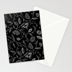 floral (black) Stationery Cards