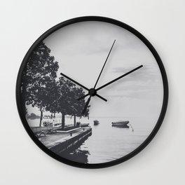 Boats on the lake Wall Clock