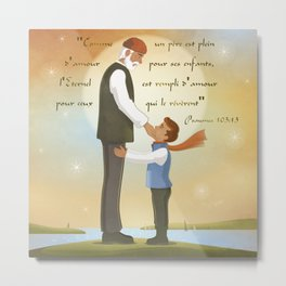 A father full of love Metal Print