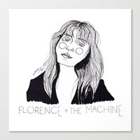 florence Canvas Prints featuring Florence by ☿ cactei ☿