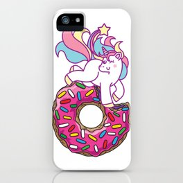 Unicorn & Donut iPhone Case