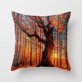 Majestic woods Throw Pillow