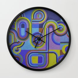 Easter Egg Retro Abstract Wall Clock