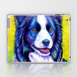 Colorful Border Collie Dog Laptop & iPad Skin