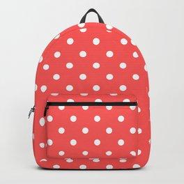 Coral Polka Dots Backpack
