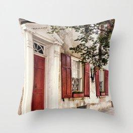 Charleston French Quarter Throw Pillow