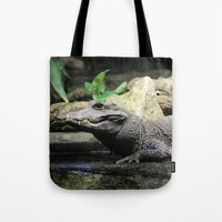crocodile Tote Bags featuring Crocodile by Falko Follert Art-FF77