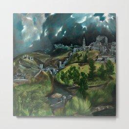 El Greco - View of Toledo Metal Print