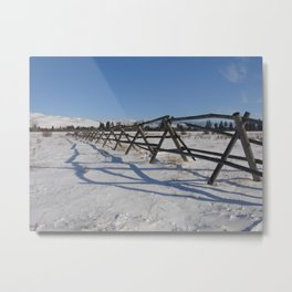 #406 bitterroot barn fence 1 6 14 Metal Print